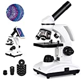 TELMU Mikroskop Professionell Optisch 40-400X-Vergrößerung Achromatische Einstellbare Mikroskop für Kinder LED-LichtquelleLinse Laborgeräte für wissenschaftliche Beobachtung