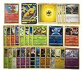 Pokemon Karten deutsch 50 Verschiedene Pokemon Karten + 1 V/GX/EX/VMAX + 1 Seltene - 1 Reverse Holo 1 zufällige Pikachu, Glumanda oder Evoli Originale aktuelle Sets + 1 Heartforcards® Toploader