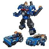 SKAJOWID Roboterbausteine 3 in 1 Rennsportwagen Verformter Roboter Kompatibel Mit Lego Zusammengebauten Kleinen Partikelbausteinen Lernspielzeug