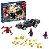 LEGO 76173 Spider-Man und Ghost Rider vs. Carnage mit Spielzeugauto zum Bauen, Marvel Super Heroes Set