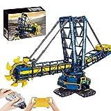 LDB SHOP Technik Ferngesteuert Schaufelradbagger, 4588 Klemmbausteine 2,4G/APP Technik Baggermodellbausteinen der großen Engineering-Serie mit Motoren, Kompatibel mit Lego Technic - 17006