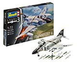 Revell Modellbausatz Flugzeug 1:72 - F-4J Phantom II im Maßstab 1:72, Level 3, originalgetreue Nachbildung mit vielen Details, 03941
