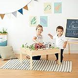 Teamson Kids Hölzernes Zugset & Spieltisch & Bahn (85 Stück) (Brio Comp) PS-T0004