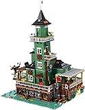LAKIOMZ Seaside Leuchtturm Modell 3452PCS MOC Straßenansicht Baustein Architektur Steine Modell Compation mit Lego Creator