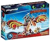 PLAYMOBIL DreamWorks Dragons 70731 Dragon Racing: Rotzbakke und Hakenzahn, Ab 4 Jahren