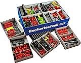 Fischertechnik 554195 Creative Basic - eine große Auswahl an ausgewählten Inhalt: 630 Bauteile, eine Grundplatte, Box 1000 und das Flexible Aufbewahrungssystem
