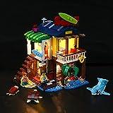 LED Licht für Creator 3 in 1 surfer beach house, lighthouse & pool house summer Sommerbaukasten Kompatibel mit Lego 31118 (nicht im Lieferumfang enthalten)
