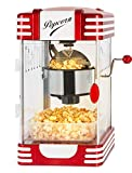 Stagecaptain PCM-300 Popcorn Maschine - Retro-Design - Kurze Aufheizzeit - Mit Dosierlöffeln - Problemlose Reinigung - Dekorative Innenbeleuchtung - Rot/Weiß