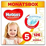 Huggies Windeln Ultra Comfort Baby Größe 5 Monatsbox, 1er Pack (1 x 126 Stück) 3 x 42 Stück