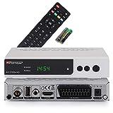 RED OPTICUM AX C100s HD Kabelreceiver mit PVR-Aufnahmefunktion I Digitaler Kabel-Receiver HD - EPG - HDMI - USB - SCART - Coaxial Audio I Receiver für Kabelfernsehen I DVB-C Receiver silber