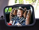 Onco 360° Baby Autospiegel - 100% Bruchsicherer Rücksitzspiegel für eine Sichere Fahrt - Baby Erstausstattung & Auto-Zubehör - Anpassbar - Geeignet für allerlei Kopfstützen