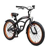 BIKESTAR Jugendfahrrad Kinderfahrrad für Jungen und Mädchen ab 9 Jahre   24 Zoll Kinderrad Cruiser   Fahrrad für Kinder Schwarz   Risikofrei Testen