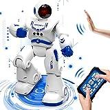 HOMOFY Ferngesteuertes Roboter Spielzeug für Kinder RC Intelligenter Programmierbarer Smart Roboter Spielzeug Set mit Tanzen, Singen, LED-Augen, Gestenerkennung für 5 6 7 8 -12 Jahre Jungen Geschenk