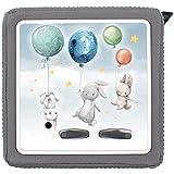 yabaduu Schutzfolie Schutzcover für Toniebox passgenau selbstklebend kindgerecht Folie Zubehör für Kinder Spielzeug (Y031-42 Hasen Ballon, Ohne Wunschname)