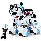 COSTWAY RC Interaktiv Roboter Hund mit Musik-, Tanz-, Blink- und Schießfunktion, Ferngesteuerter Hund Roboter, Roboterhund intelligent, Hundespielzeug programmierbar, Roboter Spielzeug