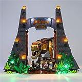 TIOL Beleuchtung Licht Set für Lego Jurassic World Jurassic Park, LED Licht-Set Kompatibel Mit Lego 75936 Bausteinen Modell - Ohne Lego Set