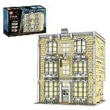 YaYashow Zauberstabladen Haus Bausteine Bausatz mit LED-Beleuchtung, Magische Welt, Modular Buildings, Konstruktionsspielzeug Kompatibel mit Lego Haus (3196 Pcs)