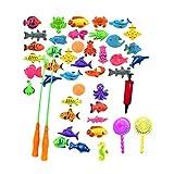 Magnet Fischen Spielzeug, 48 Stück Wasserdichte Magnet Angelspiel Pädagogisches Badespielzeug Spielset, Tolles Geschenk Für Angelspiel Für Kinder Ab 3 Jahre Kleinkinder Kindern Spielzeug