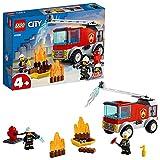 LEGO 60280 City Feuerwehrauto Spielzeug mit Feuerwehrmann als Minifigur für 4-jährige Jungen und Mädchen