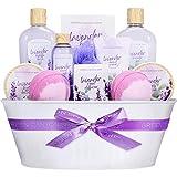 Green Canyon Spa Spa Geschenkkorb für Frauen, 12 PCS Lavendel Bad Set, Duschgel, Raumduft Diffusor, Schaumbad, Frauen Geschenkideen für Geburtstag und Jahrestag