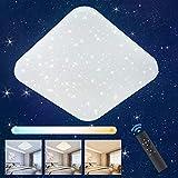 LED Deckenleuchte Sternenhimmel Dimmbar, Oeegoo 24W LED Deckenlampe mit Fernbedienung, 2050LM LED Starlight mit Sternendekor für Kinderzimmer Wohnzimmer Schlafzimmer Esszimmer, Hotel.