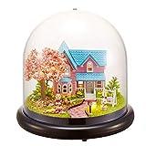 GYC DIY Puppenhaus Box, DIY Handwerksgebäude Mini House Kit mit LED-Lichtern Weihnachtsgeburtstag Geschenke Home Decor DIY Liebesgeschenke DIY Puppenhaus Box (# 2)