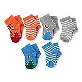 ebebek HelloBaby 6 Paar Bunte Baby Socken aus Baumwolle für Baby Junge und Mädchen Neugeborene Säugling Kinder, Perfekt für Baby Erstausstattung, kleine Socken für Adventskalender