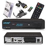 Ankaro 2100 DSR Sat Receiver - HD Satelliten Receiver mit USB-Mediaplayer Funktion - DVB-S/S2 Receiver für Satellit - Astra & Hotbird vorinstalliert + Anadol HDMI Kabel (Ohne PVR Aufnahmefunktion)