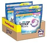 Lenor Waschmittel Pods All-in-1, 104 Waschladungen, Lenor Aprilfrisch mit Duft von Frühlingsblumen