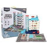 Kinder Spielzeug Auto Garage, Garage Spielzeug Set Parkplatz Spielzeug mit Rampe Aufzug Auto Spielzeug Auto Garage für Kleinkinder Fahrzeugbau Geschenk für Kinder(5-lagig mit 8 Wagen)