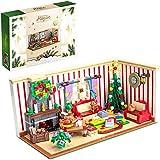Weihnachten Weihnachtshaus, 1208 Teile Christmas Weihnachtshaus Modell Weihnachten Bausteine Bausatz, Weihnachts Geschenke, Kompatibel mit Lego