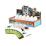 Fltaheroo 12 StüCk Dinosaurier Eier Ausgrabung Set DIY Dino Eier Graben Kit ArchhOlogie Wissenschaft Stengel Geschenk Modell Spielzeug Geschenk für Kinder Erwachsene