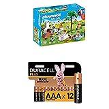 Playmobil City Life 9272 Einweihungsparty, Mit Lichteffekten, Ab 4 Jahren + Duracell Plus AAA Alkaline-Batterien, 12er Pack