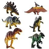 FOGAWA 6 Stück Dinosaurier Spielzeug Set Dinosaurier Figuren Dino Figuren Kinder Realistische Dinos Spielzeug Tyrannosaurus Rex Modell für Kinder Kindertag Geschenke Kindergeburtstag Party Deko