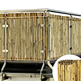 Sol Royal Bambus Sichtschutz 100x250cm (HxB) Sol Vision B38 Premium Bambusmatte Zaun Natur Sichtschutzmatte für Balkon Garten Terrasse