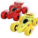 2 Stück Monstertruck Spielzeug ab 3 Jahren,Kinderspielzeug Auto mit 360 Grad Rotierende Fahrzeug Spielzeugauto für Kinder60 Grad Rotierende Trägheit Fahrzeug Spielzeugauto für Kinder