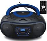 DAB+ Tragbarer CD-Player   Boombox   CD/CD-R   USB   FM Radio   AUX-In   Kopfhöreranschluss   CD Player   Kinder Radio   CD-Radio   Stereoanlage   Kompaktanlage… (DAB+ Black/Bolton Blue)