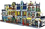 Haus Bausteine Bausatz, 5157 Klemmbausteine Straße der Delikatessen Bauset mit Figuren, Häuser Modellbau Kompatibel mit Lego