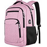 Schulrucksack Mädchen Teenager, Rucksack Schule Laptop Rucksack für Damen Daypacks für 15.6 Zoll Laptop Business Rucksack mit USB Ladeanschluss