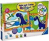 Ravensburger Malen nach Zahlen 28694 - Land der Dinosaurier - Für Kinder von 5-7 Jahren