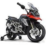ROLLPLAY Elektro-Motorrad, Mit Stützrädern, Für Kinder ab 3 Jahren, Bis max. 35 kg, 6-Volt-Akku, Bis zu 4 km/h, BMW R1200 GS Motorcycle, Rot