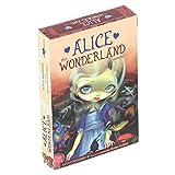 RBSD Tarot-Karten-Set, englische Version Tarot-Karten, Wunderland-Hologramm-Papier-Tarot-Karten-Deck, Brettspiel interaktives Spieltisch-Karten-Tarot-Deck Geschenk für Anfänger