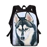 Kinder Schultaschen Für Jugendliche Jungen Mädchen Große Kapazität Schulrucksack Hund Husky Schulranzen Kinder Büchertasche Mochila 15 Zoll I