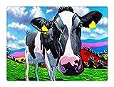 Klassisches 500 Teile Puzzle,Holzpuzzle,Geschicklichkeitsspiel Für Die Ganze Familie - Lustiges Kuhölgemälde