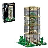 MAZOZ Bausteine Haus Glasbaumhaus Modular Building, 3495 Klemmbausteine Architektur Modell Bausteine Konstruktionsspielzeug mit LED Beleuchtung Kompatibel mit Lego