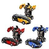 3 Stück Transformator Roboter AutoTransformers Robot verwandelbar, Wand Climber Auto mit Led, 360° Rotation, Stunt Spielzeugauto Kindergeschenk