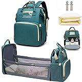 Wickeltaschen-Rucksack mit faltbarem Kinderbett, tragbare Schlafmama Wickeltasche mit Reisestubenwagen, multifunktionaler Baby-Stoßwagen-Wickelrucksack mit Wickelstation für Babyparty-Geschenke