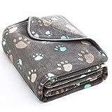 Allisandro® Super Softe Warme und Weiche Decke für Haustier Hundedecke Katzendecke Fleece-Decke/Tier Schlafdeck Überwurf für Hundebett Sofa und Couch- Gr. 100X80cm , Grey