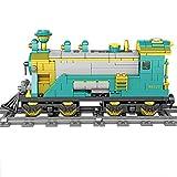 Myste Technik Zug Eisenbahn mit Licht & Musik, 892 Teile City Personenzug City Güterzug Bausteine Modellmit Schienen, City Zug Klemmbausteine Kompatibel mit Lego Zug - Dynamisch