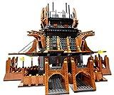 Bausteine Ritterburg, Burg mit Ritter Figuren, 2419 Klemmbausteine, Konstruktionsspielzeug
